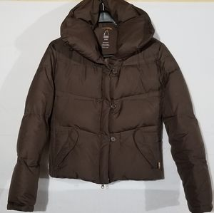 Sierra Designs down cropped puffer coat